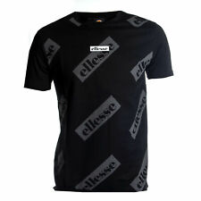 Ellesse Heritage Sete Mens Retro Fashion T-Shirt Shirt Tee Black