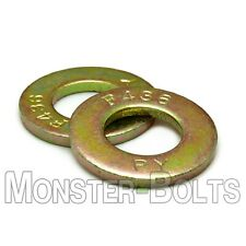 F436 Structural Flat Washers Zinc Yellow 1/4, 5/16, 3/8, 7/16, 1/2, 9/16 5/8 3/4