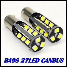 2x 27 SMD LED 233 BA9S T4W CANBUS NO ERROR XENON WHITE SIDE LIGHT BULBS LAMPS