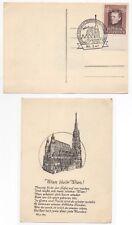 1947 AUSTRIA Cover STAMP EXHIBITION Wien Fair Philatelic Postcard SG1008 Gutter