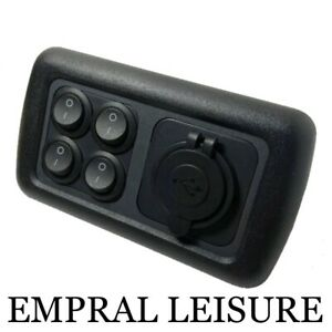 CBE 12v Double Dual USB Socket Light Switch For Camper Van Motorhome Caravan usb