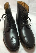 $350 New H By Hudson Angus Men Black Leather Laces Up Ankle Boots 46