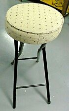"TALL 30"" Folding Metal Bar Stool High Counter 14""x 3"" Beige Chair Seat Pad FSC29"