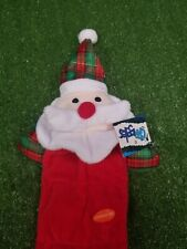 Grriggles Holiday Squeaktacular Christmas Santa  Dog Plush Tug Toy Interactive
