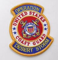 US COAST GUARD OPERATION DESERT STORM GULF WAR EMBROIDERED PATCH 3.5 X 3 INCHES