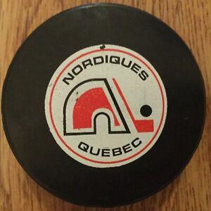 WHA Quebec Nordiques game  puck, Biltrite vintage, rare