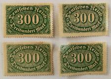 German Deutsches Reich 300 Vierhundert Mark Stamp 1922