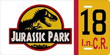 """Jurassic Park Car Jeep Tag License Plate Movie Prop Reproduction 12"""" x 6""""   #18"""