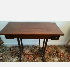 More details for vintage singer sewing machine foldaway wrought iron table. used