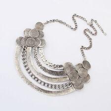 Fashion Women Jewelry Necklace Chain Statement Bib Retro Chunky Collar Pendant