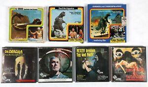 Super 8 Spielfilme Gruselfilme, Godzilla, Dr. Mabuse, Dracula