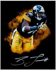 Stephon Tuitt Autographed Custom Black 8x10 METALLIC PAPER Photo