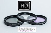 UV POLARIZER FLD 3PC HD GLASS FILTER KIT FOR CANON EOS M EF-M 22mm STM KIT