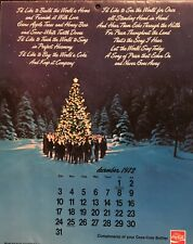 "1972 – 1973 Coca Cola ""I Would Like to Build a Better World"" Calendar"
