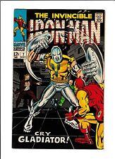 "IRON MAN  #7  [1968 VF-NM]  ""CRY GLADIATOR!"""