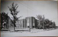 Thief River Falls, MN 1947 Realphoto Postcard: Lincoln School - Minnesota Minn