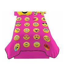 Emoji Twin Size Plush Blanket