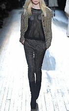 Theyskens' Theory Size 2 Padgette Foldy Metallic Gold Speckle Black Pant