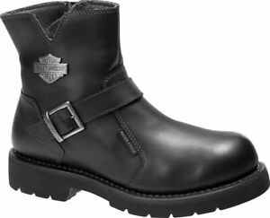 Harley Davidson Williams Mens Riding Biker Leather Side-Zip Boots