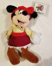 Rare Disneyland Disney World Pirate Mini Bean Bag Plush Minnie Mouse New NWT