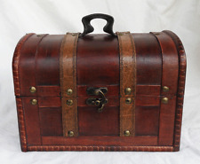 Pirate Chest Style Wooden Storage Box / Trunk / Chest  - (B) - NEW