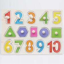 Puzzle en Bois Enfant Jeux éducatifs Numéro Géométrie Jouets Cadeaux Bébé