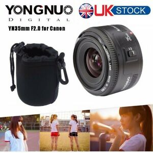 Yongnuo YN 35mm F2 Auto Focus Wide Angle Large Aperture Prime Lens For Canon UK