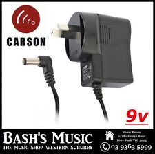 Carson RPC90 AC/DC 9v DC 500mA 2.1mm Power Supply Adaptor Centre Negative