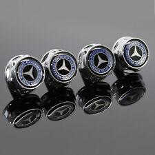 For Mercedes-Benz Car Logo License Plate Frame Screw Bolts Cap Cover