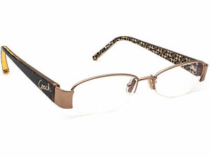 Coach Eyeglasses Lyric 241 Tan Brown/Tortoise Half Rim Frame 50[]17 135