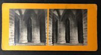 Vintage Stereo-View Stereoscopic Photo: #A63: FR: Mont St Michel: Pillars