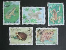 Briefmarken Laos Tiere Frösche gestempelt