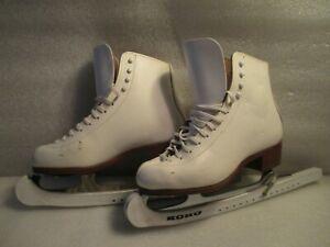 Women Leather Ice Figure Skates Jackson 1200 Competitor MK V Blade Size 6C