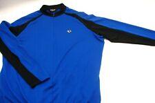 "Men's Pearl Izumi 1/2 ""Hidden"" Zip Cycling Jersey Ultra Sensor Blue Black Xl Vtg"