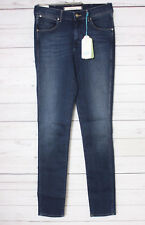 Wrangler Damen Skinny Jeans Jess High Waist Denim, Gr. W29/L32, Blau
