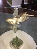 Vintage Brass fish Figurine Paperweight Gold Solid