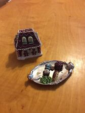 Ginger Bear Manor Cookie Tray And Ginger Bread House 1997 Mld