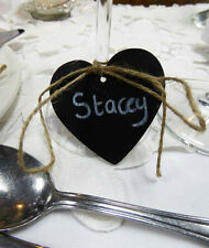 100x Mini Heart Wood Chalkboard Perfect for Vintage Wedding Tables & Decoration