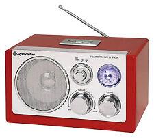 Roadstar HRA-1320US Rot Retro Tisch Radio mit USB und Kartenslot für MP3