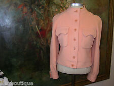 CALVIN KLEIN Vintage JACKET Wool Blazer Melon Orange Top S Outerwear Couture 2K