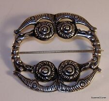 Scottish Iona Silver Celtic Brooch Hamish Dawson Bowman after Alexander Ritchie
