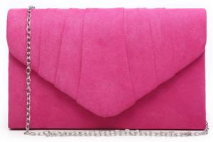 Dasein Womens Evening Bag Pleated Envelope Clutch Handbag Wedding Party Bridal P
