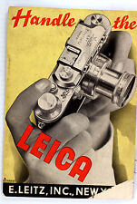"""Original Leitz NY Sales Brochure """"Handle the Leica"""" - 24 pages - Oct. 1938"""