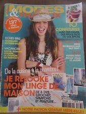 Modes & Travaux N°1377, Août 2015. je relooke mon linge de maison