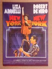 NEW YORK NEW YORK LIZA MINNELLI DE NIRO  film movie carte postale postcard