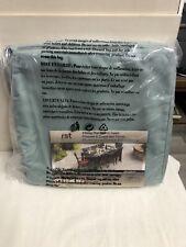 NIP RST Sunbrella  8 Dining Chair Cushion Covers  Spa Blue New Sealed ☀️