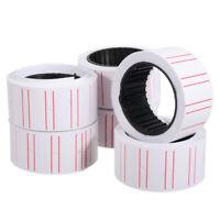 10 Rolls Price Label Paper Tag Sticker MX5500 Labeller Gun White Red Line
