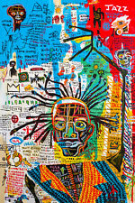 Jean Michel Basquiat Jazz King Modern Abstract Canvas Fine Art 20 x 30 Inch A1