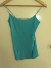 New Look Green Skin Tight Stretchy Vest Top in Size 12