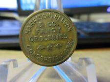 Concordia Kansas  / Harrison, Nelson & Co. GF .10 In Merch Token Brass 21 mm